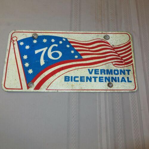 1976 VERMONT BICENTENNIAL BOOSTER LICENSE PLATE