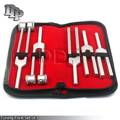 Tuning Fork Set Of 5 - Medical Surgical Diagnostic Instruments