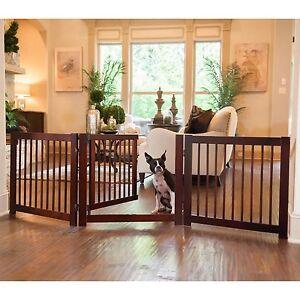 Expandable Wooden Pet Gate Ebay