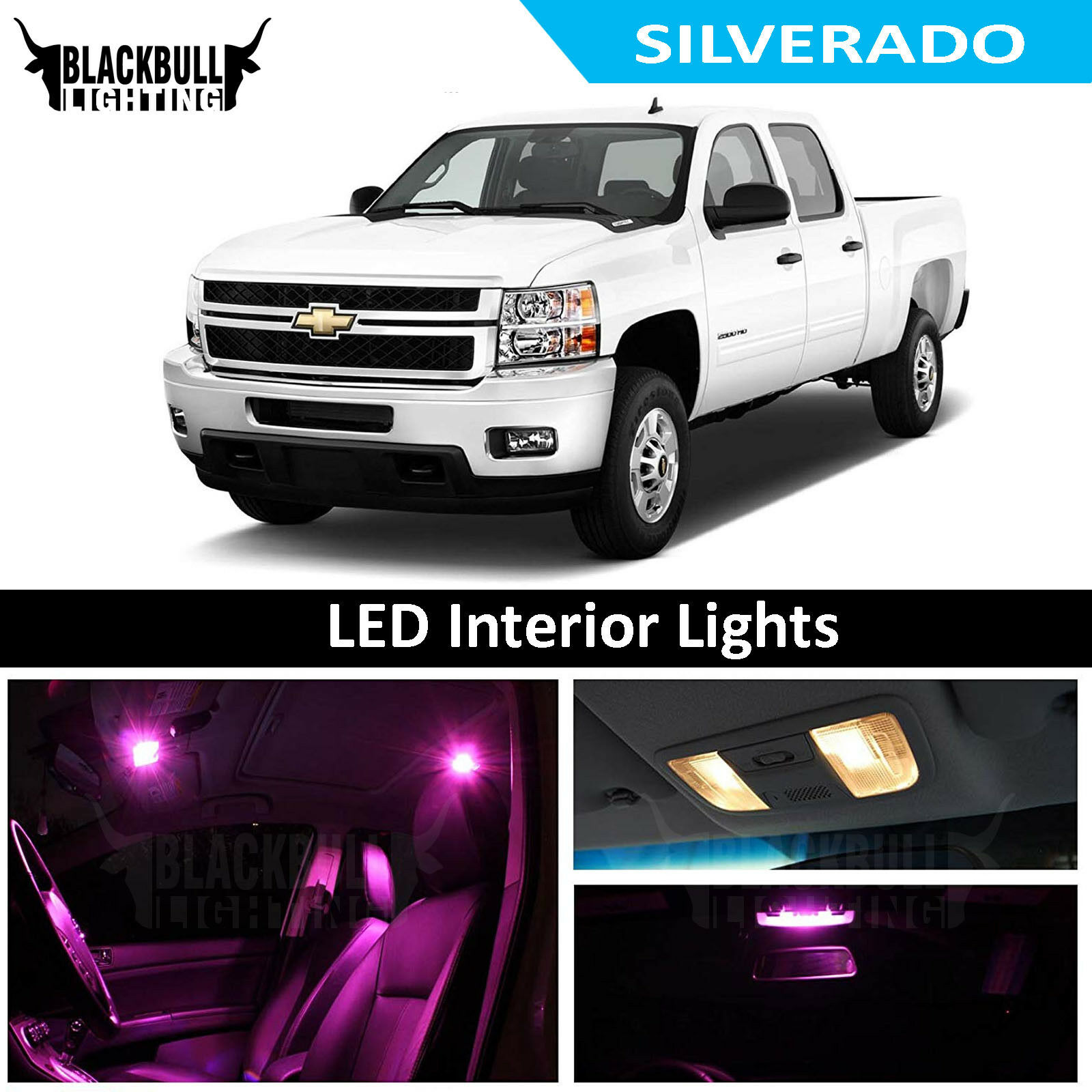 Pink Led Interior Lights Replacement Kit For 2007 2013 Chevy Silverado 12 Bulb Ebay