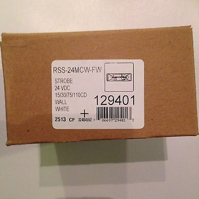 Wheelock Rss-24mcw-fw Strobe 24vdc White Fire Alarm New