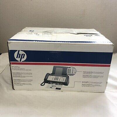 Hp 640 Fax Machine Plain Paper Inkjet Quality Fax Copy Phone Tested Euc