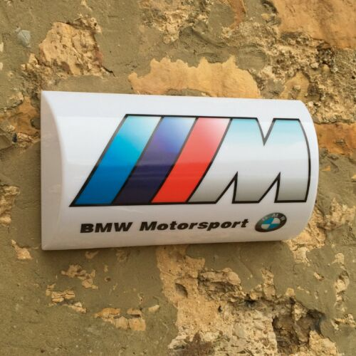 BMW M POWER LED ILLUMINATED LIGHT UP GARAGE SIGN GASOLINE GAS & OIL AUTOMOBILIA