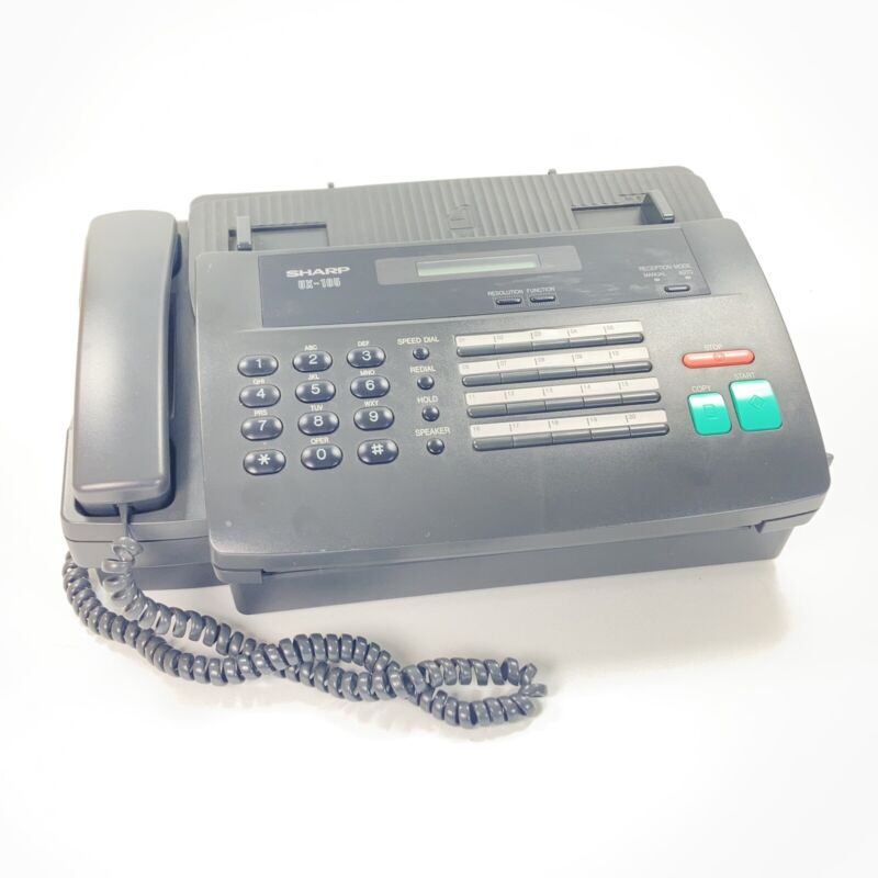 Sharp Ux-105 Thermal Paper Telephone Fax Machine