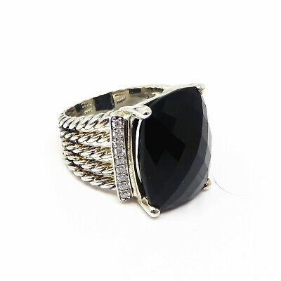 NYJEWEL David Yurman Wheaton Ring With Black Onyx And Diamonds