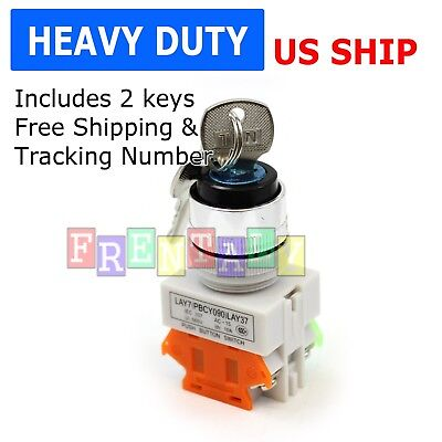 22mm Onoff Locking Key Switch Security Lock Heavy Duty Keyed Power Ignition