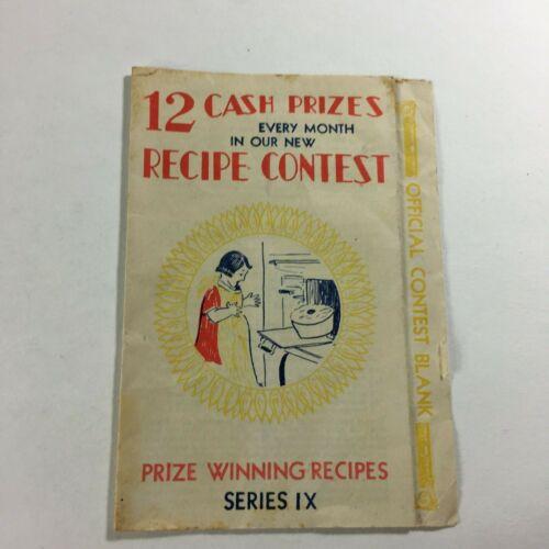 Rare 1930 VTG Wichita Flour Mill Brochure Foldout Cooking Contest Cake Recipes