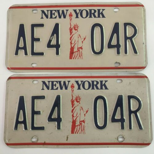 1986 New York License Plate PAIR Plates Liberty 1980s 1990s 2000s All Original