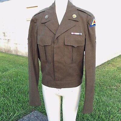 Korean War Ike Jacket Army Wool Uniform Top 7th Army Engineer
