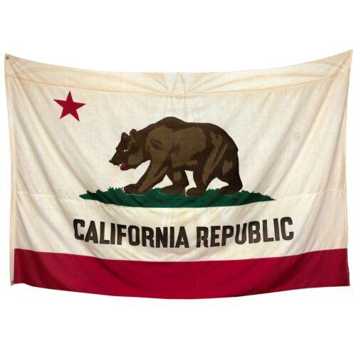 XL Vintage Cotton California Republic Old Cloth American State Bear Flag USA