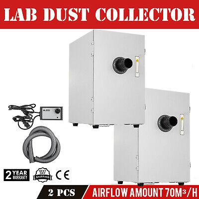 2x Dental Lab 370w Digital Single-row Dust Collector Vacuum Cleaner Ups