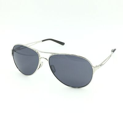 New Oakley Caveat OO4054-02 Aviator Polished Chrome W/ Grey Lenses (Aviator Grey)