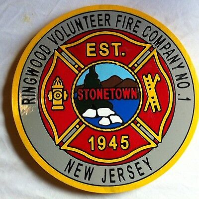 Ringwood Fire Department 3D Patch Sign 3D routed carved award plaque Custom