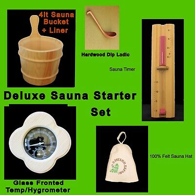 Deluxe Starter Set For Sauna or Steam room Use