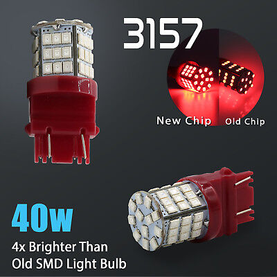 2X 31573156 40W High Power Red SMD LED Brake Stop Tail Light Bulbs