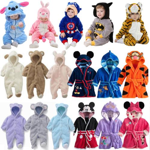 Kleinkind Baby Kinder Tier Pyjamas Kapuze Strampler Bademantel Kigurumi kostüm