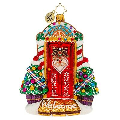 [NEW Christopher Radko SWEET HOME DOOR DECOR! Christmas Ornament 1019949</Title]