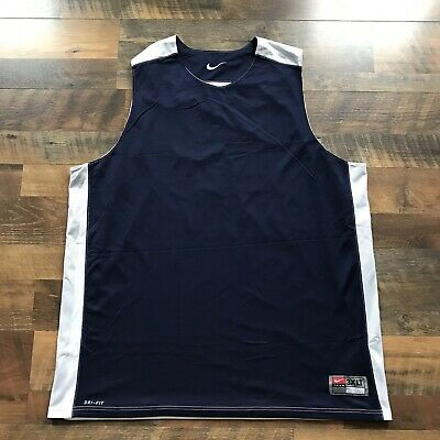 0c3152be7aa Vintage Men's TEAM NIKE Blue / White Reversible Training Basketball Jersey  3XLT