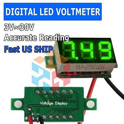Dc 3v30v Green Led Panel Digital Voltage Volt Meter Voltmeter Suv Boat Car