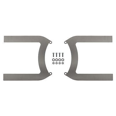 REVOTEC ELECTRIC FAN BRACKET SET PAIR 225MM MILD STEEL - RFB225MS