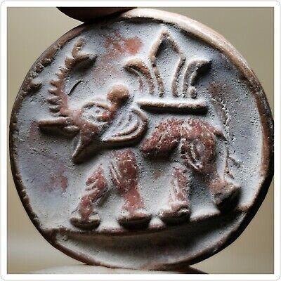 Terracotta elephant Indus valley civilization rare stamp amulet   # 39