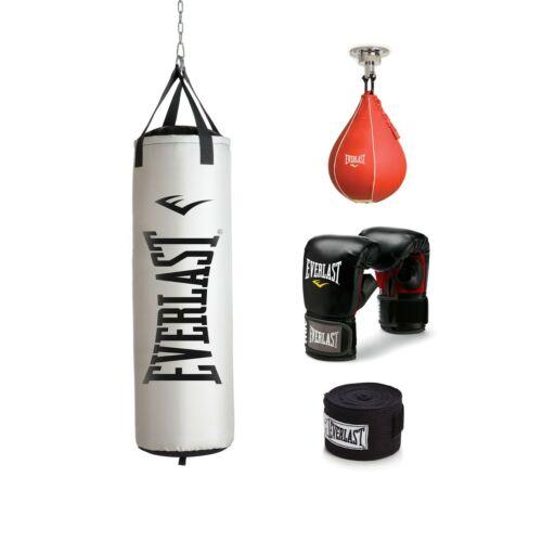 Everlast Heavy Bag Gloves Kit Filled Punching Bag Boxing MMA Train Exercise 70lb