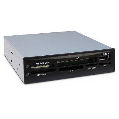 Cardreader Hub USB 2.0 intern 8,9cm (3,5) Kartenleser PC Frontpanel nitrox #153