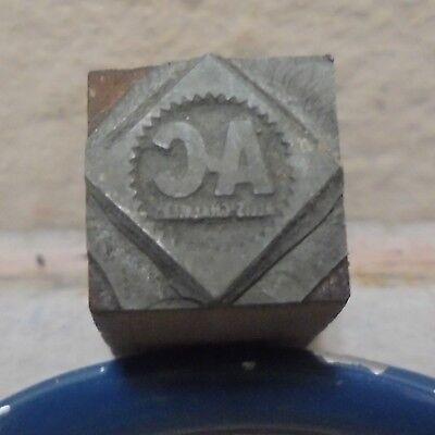 Vintage Printing Letterpress Printers Block Ac Allis Chalmers