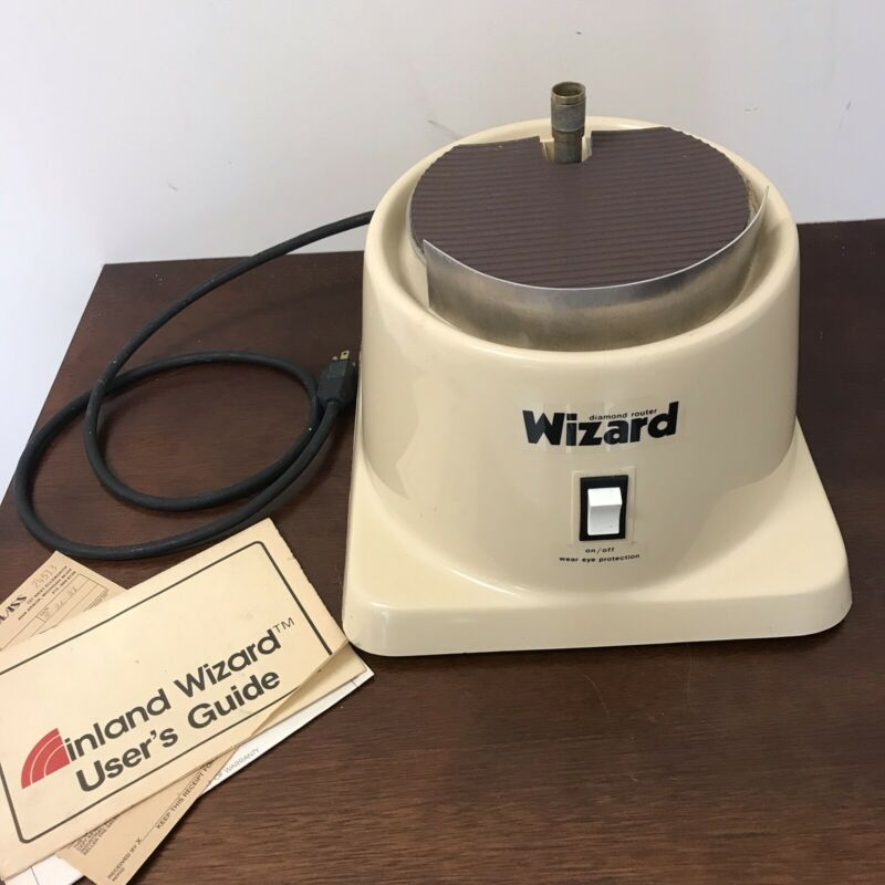 Vtg Wizard Diamond Router Inland Craft Products User Guide And Bit