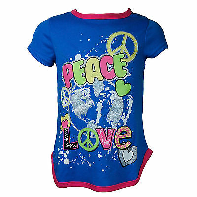 filles NIGHTGOWN Pyjama W/ Peace & Love imprimé enfants vêtements 2T to 14