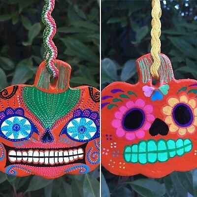 Decoration Bauble Dia de los Muertos Candy Skull Mexican Pumpkin Jack o Lantern - Halloween O Dia De Los Muertos