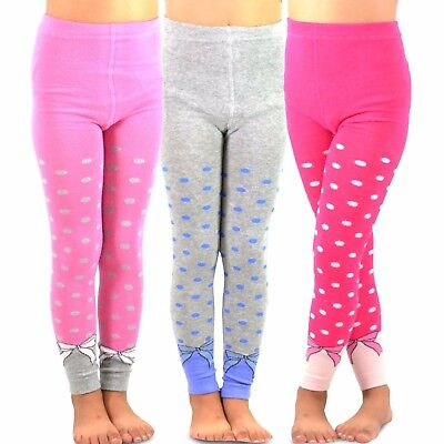 TeeHee Kids Girls Fashion Footless Tights 3 Pair Pack Dots & Bows Soft Cute](Cute Couple Kids)