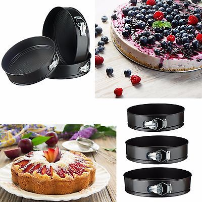 VonShef 3 pc Round Cake Pan Springform Baking Tins Set Wedding Birthday Bakeware