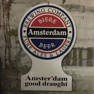 Amsterdam draft tap beer sign
