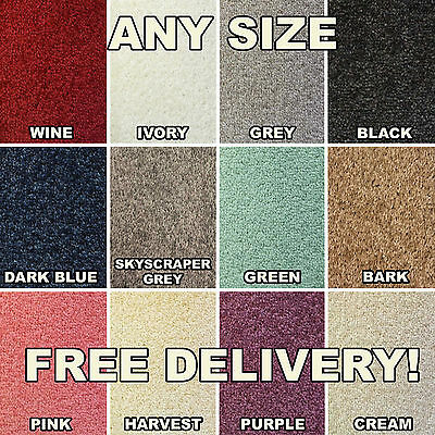 QUALITY FELT BACK TWIST CARPET - CHEAP - NEW - ANY SIZE ROLLS LOUNGE BEDROOM