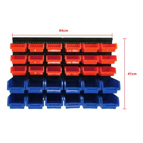 Flexible Garage Wall Storage: 30 Hole Plastic Bins Wall Mount Storage Garage Tools Small