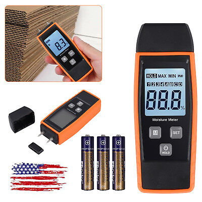 New 080 Lcd Digital Wood Moisture Meter Detect Moisture Pin Contact Backlight