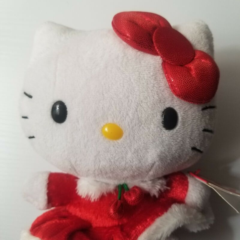 Hello Kitty Ty Beanie Babies Holiday Dress Christmas Plush