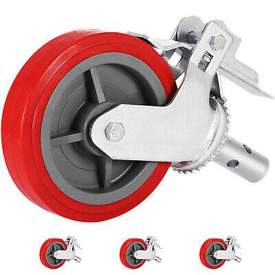 Scaffolding Non Marking Polyurethane Swivel Caster Wheel Top 8x2 Set Of 4