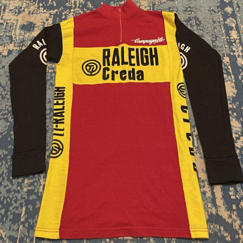 Vintage Campagnolo Cycling Jersey TI Raleigh Creda Belgium Size 1 Polyacrylic