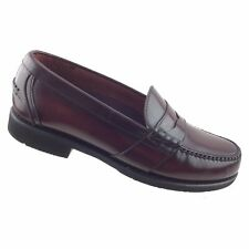 Rockport Burgundy Leather Comfort DMX Penny Loafer Slip On ...