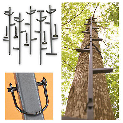 20' Climbing Sticks Hunting Ladder 5 Sturdy Sections Tree Trimming Steps Climber