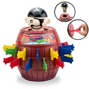 Lucky Stab Pop up Pirate Funny Tricky Barrel Moneybox Swords Toys Game boy girl
