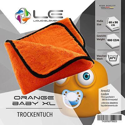 Liquid Elements Orange Baby XL Auto Trockentuch Microfaser 90x60 cm T05 abledern