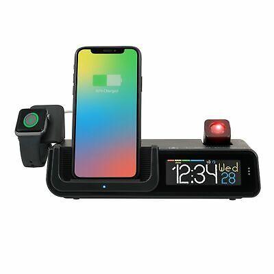 La Crosse Wattz 3-in-1 Projection Alarm Clock Wireless Charger USB Temperature