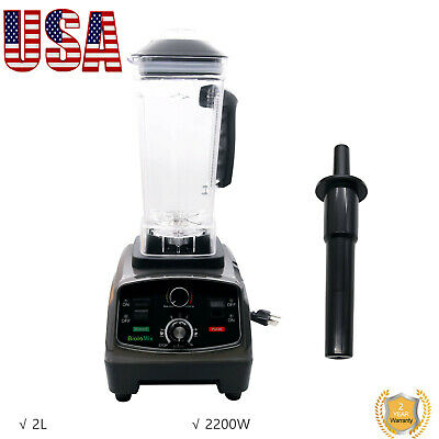 T5200 2l Commercial Blender With Timer 2200w Bpa-free Fruit Juicer Usa Stock