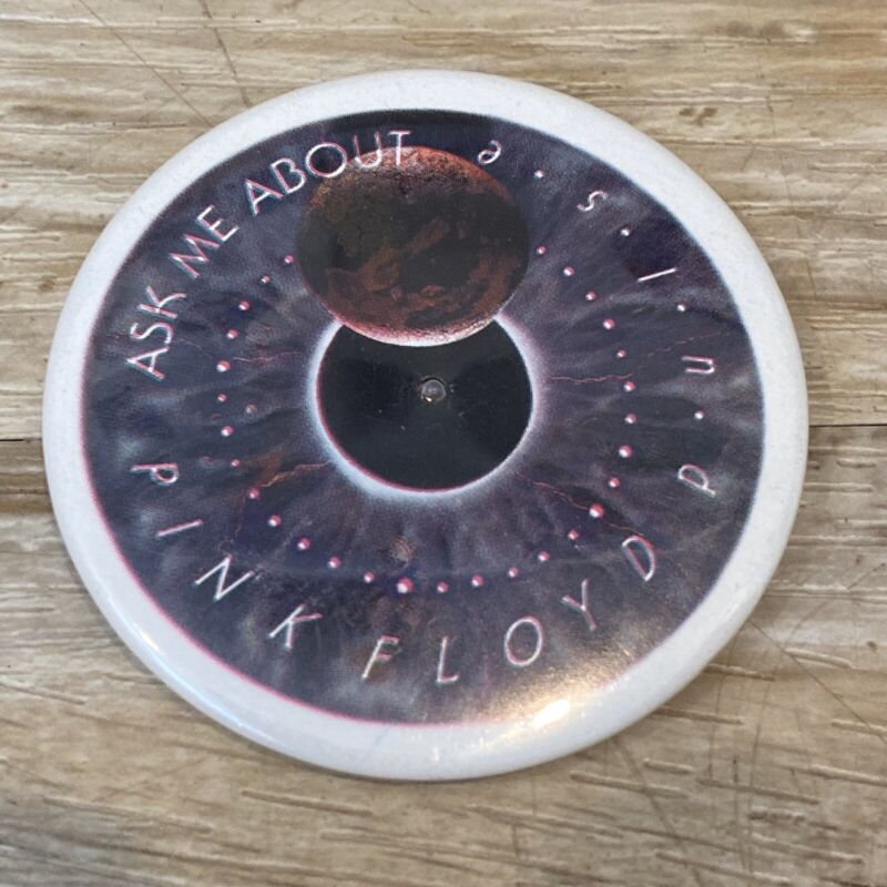RARE Vintage Ask Me about Pink Floyd PULSE Electronic Light Up Pinback Button