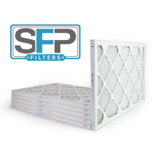 16x25x1 Merv 13 Pleated AC Furnace Filters. pack of 6, Captures airborne virus!