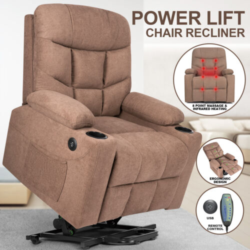 auto electric power lift massage recliner chair