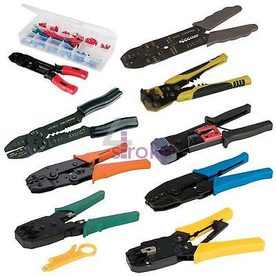 Crimping Stripping Tool Set Ratchet Crimper Cable Wire Electrical Telecoms